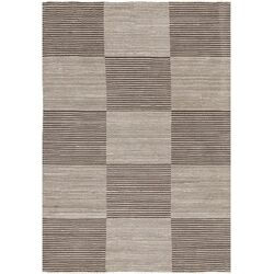 Elantra Hand-Knotted Cream/Brown Area Rug
