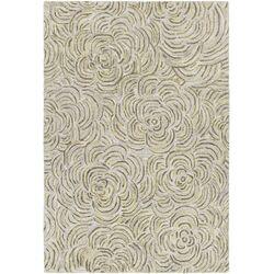 Leia Hand-Tufted Green/Gray Area Rug