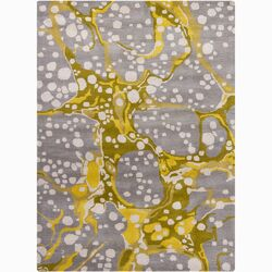 Bajrang Yellow/Gray Area Rug