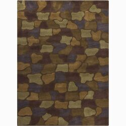 Bajrang Brown/Tan Geometric Area Rug