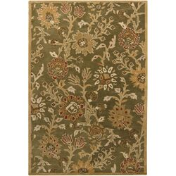 INT Green Floral Area Rug