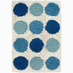 Rocco Blue/White Poka Dot Area Rug