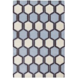 Inhabit Designer Blue/Off White Area Rug