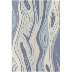 Inhabit Designer Blue Area Rug