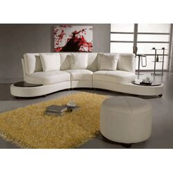Pyrite Leather Sectional