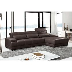 Digo Leather Sectional