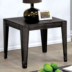 Lenzen Industrial Style End Table