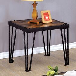 Harlin Industrial Style End Table