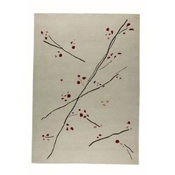 Inari White/Red Area Rug