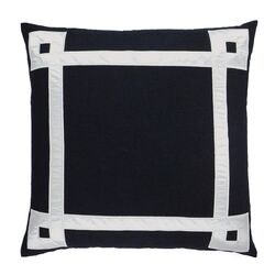 Applique Ribbon Embroidered Throw Pillow