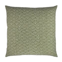 Woodblock Scales Arches Graphic Throw Pillow