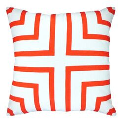 Foursquare Hand-Sewn Applique Throw Pillow