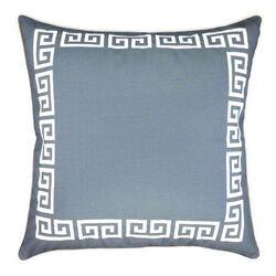 Greek Key Embroidered Throw Pillow