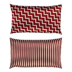 Stairs and Stripes Geometric Chevron Throw Pillow