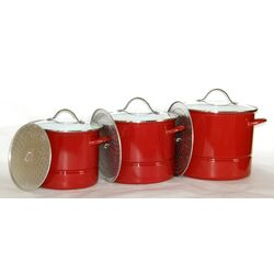 3-Piece Stock Pot with Lid
