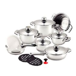 Dr. Cook 16-Piece Stainless Steel Capsule Base Cookware Set
