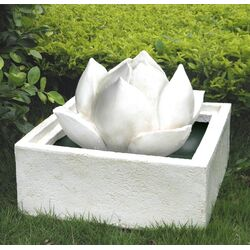 Resin and Fiberglass Lotus Flower Urn Fountain