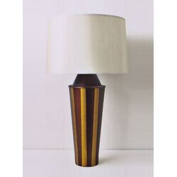 Striped Gemini Table Lamp in Bronze with Pebble Shade