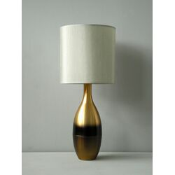 Juggler Table Lamp in Rust Horizon with Pebble Shade