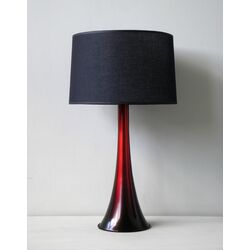 Flamingo Table Lamp in Raku Fade with Black Linen Shade