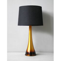 Ostrich Table Lamp in Rust Horizon with Black Linen Shade