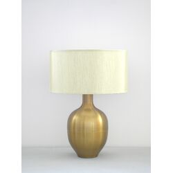 Rubianne Table Lamp in Spungold with Pebble Shade