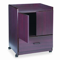 Mobile Deluxe Coffee Bar, 23 x 19 x 30-3/4, Mahogany