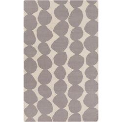 Light Gray/Gray Geometric Rug
