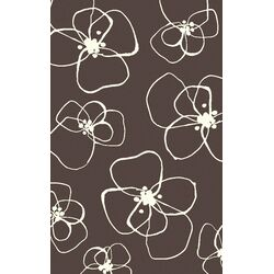 Chocolate Floral Rug