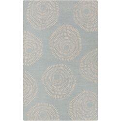Decorativa Blue/Light Gray Floral Rug