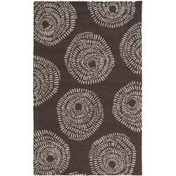 Decorativa Black/Light Gray Floral Rug