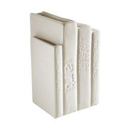 Biblio_tek Porcelain Books Vase