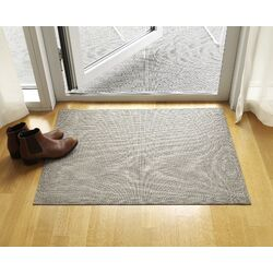 Basketweave Latte Floor Mat Area Rug