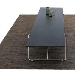 Basketweave Bound Plynyl Floormat Area Rug