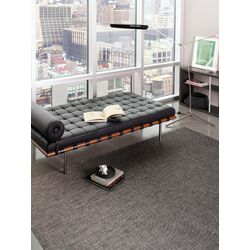 Basketweave Carbon Floor Mat Black/Grey Area Rug