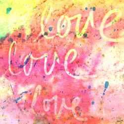 Love Love Love Painting Prints on Canvas