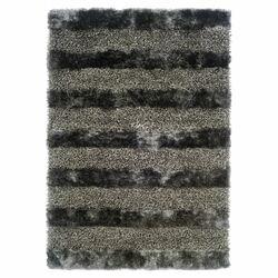 Fusion Shag Platinum Gray/Black Area Rug