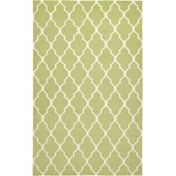 Hilary Light Green Lattice Area Rug