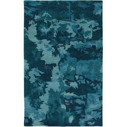 Highland Blue Abstract Area Rug