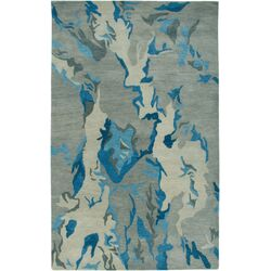 Highland Gray/Blue Abstract Rug