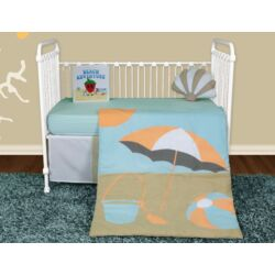 Sun and Sand 5 Piece Crib Bedding Collection w/ Storybook
