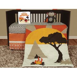 African Dream 5 Piece Crib Bedding Collection w/ Storybook