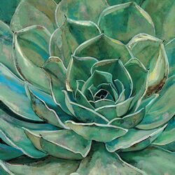 'Agave Flower' by Elinor Luna Framed Painting Print on Wrapped Canvas