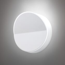 Beta Round Wall Sconce in Soft White Lacquer