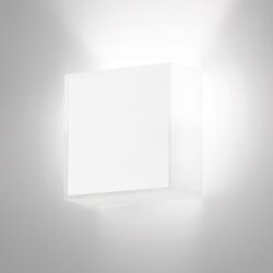 Beta Square Wall Sconce in Soft White Lacquer