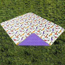 Indoor/Outdoor Reversible Polyester Travel Blanket