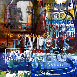 Paris Vibes 2 Graphic Art Plaque