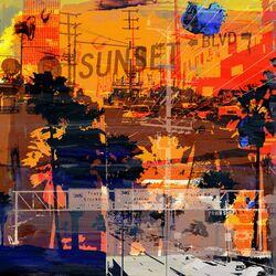 Sunset Blvd Graphic Art on Canvas