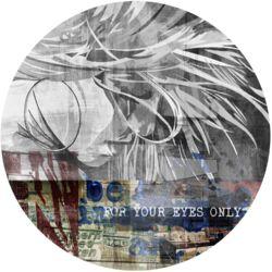 Diva Graphic Circular Art in Grey