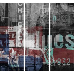 Chicago Style 1 3-Piece Graphic Art on Canvas Set